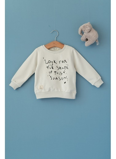 Cigit Look For Baskılı Sweatshirt Taş